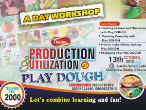 1-Day Workshop on Production & Utilization of Play Dough