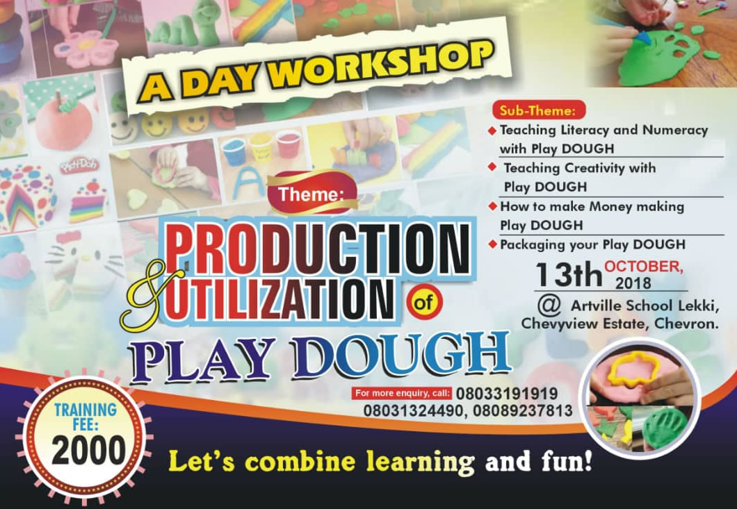 A Day Workshop on Production & Utilization of Play Dough at Artville School